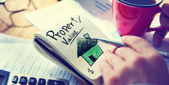 Property Value written on notebook