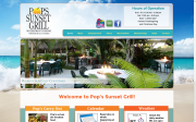 Pop's Sunset Grill website screenshot