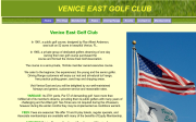 Venice East Golf Club website screenshot