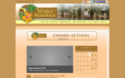 Event Calendar website screenshot